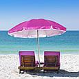 Пляжный зонт с наклоном 2.0 Umbrella Anti-UV розовый, фото 3