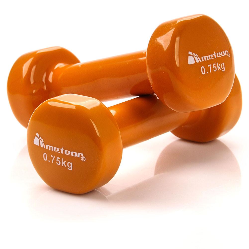 Гантели для фитнеса Meteor 2х0,75 кг Оранжевые (m0006)