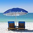 Пляжный зонт с наклоном 2.0 Umbrella Anti-UV синий, фото 3