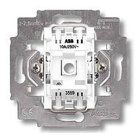 Механизм выключателя одноклавишный проходной, безвинт. клем., ABB Elektro-Praga 3559-A06445