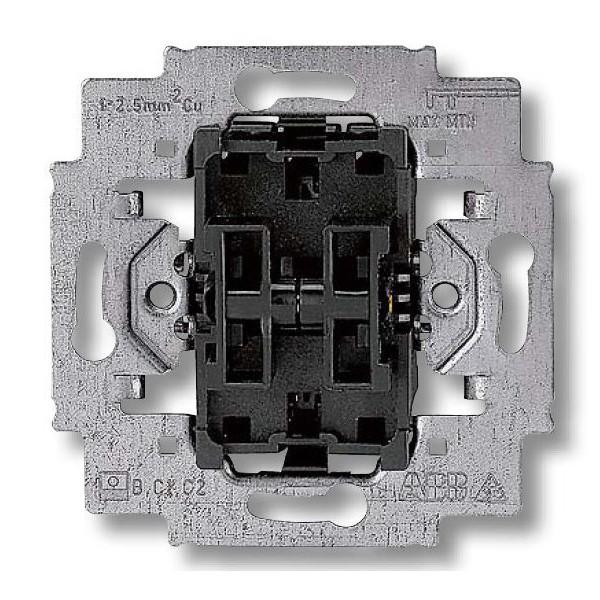 Механизм выключателя двухклавишный проходной, безвинт. клем., ABB Elektro-Praga 3559-A52445