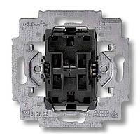 Механизм выключателя двухклавишный проходной, безвинт. клем., ABB Elektro-Praga