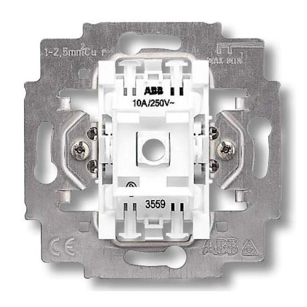 Механизм выключателя одноклавишный перекрестный, безвинт. клем., ABB Elektro-Praga 3559-A07445
