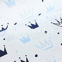 Бязь Корони синьо-блакитні