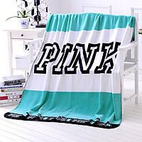 Мягкое полотенце / пляжное полотенце / покрывало / плед Victoria's Secret (Виктория Сикрет) бирюзовое pvs3