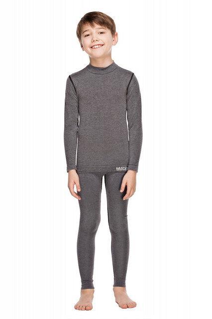 Комплект детского термобелья Haster Merino Wool 128/134 Серый