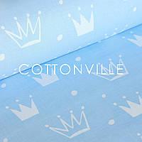 ✁ Отрезы бязи Короны на голубом, фото 1
