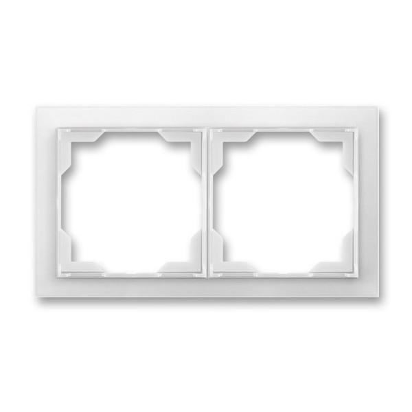 Рамка 2-постовая горизонтальная, ABB Neo белый / бело-ледяной 3901M-A00120 01