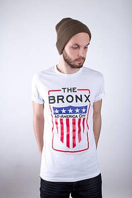 Мужская белая футболка Bronxs