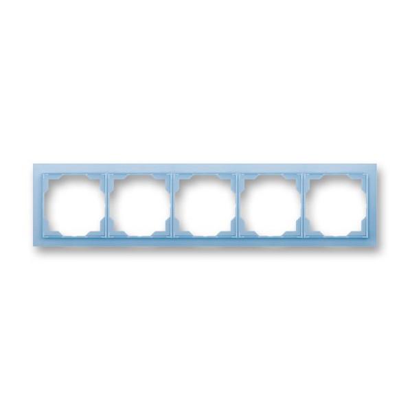 Рамка 5-постовая горизонтальная, ABB Neo белый / сине-ледяной 3901M-A00150 41