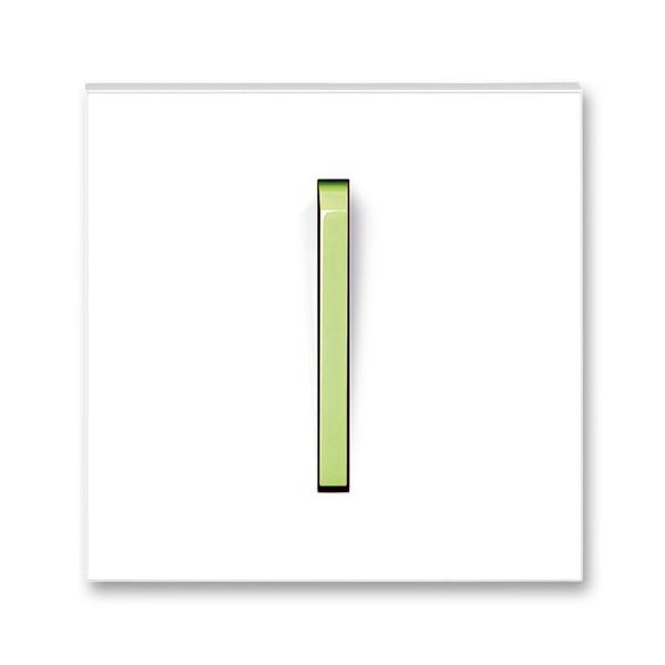 Клавиша одинарная, ABB Neo белый / зелено-ледяной 3559M-A00651 42