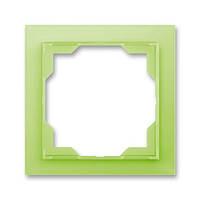 Рамка 1-постовая, ABB Neo белый / зелено-ледяной