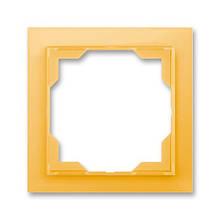 Рамка 1-постовая, ABB Neo белый / оранжево-ледяной
