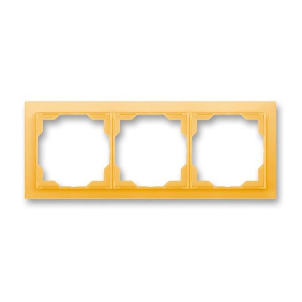 Рамка 3-постовая горизонтальная, ABB Neo белый / оранжево-ледяной 3901M-A00130 43
