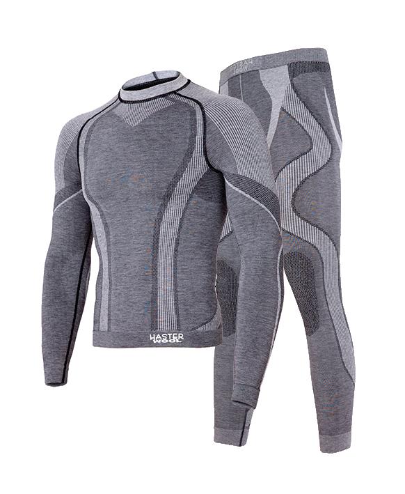 Комплект мужского термобелья Haster Merino Wool S/M Темно-серый