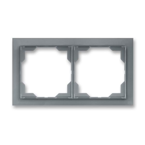Рамка 2-постовая горизонтальная, ABB Neo белый / серо-ледяной 3901M-A00120 44