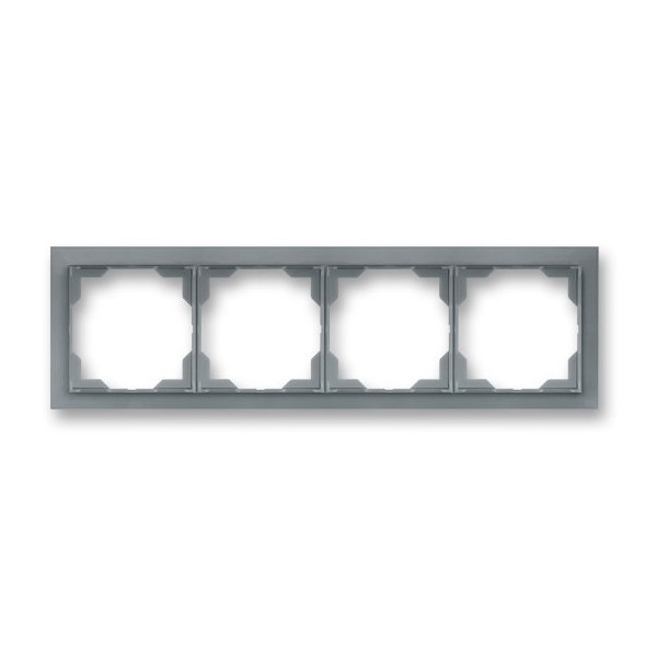 Рамка 4-постовая горизонтальная, ABB Neo белый / серо-ледяной 3901M-A00140 44