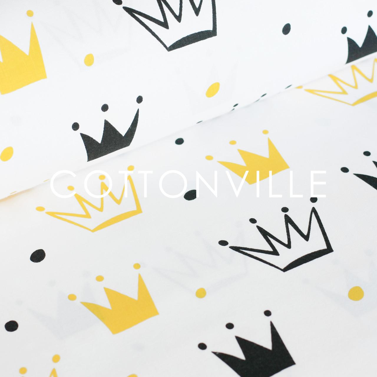 ✁ Отрезы бязи Короны желто-черные