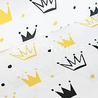 ✁ Отрезы бязи Короны желто-черные, фото 1