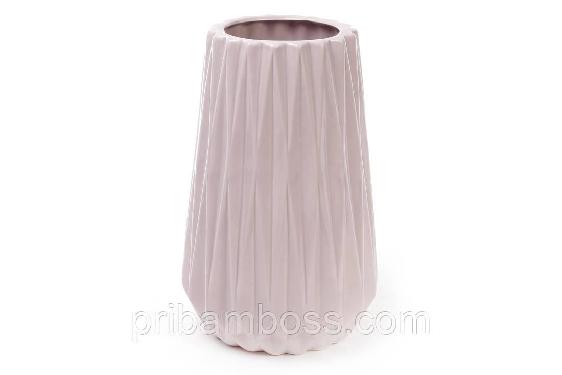 Ваза керамічна 26см, колір - пісочний рожевий