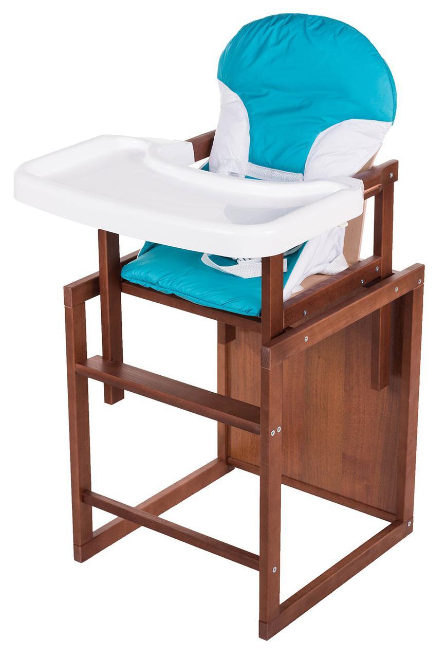 Детский стульчик-трансформер для кормления For Kids Бук-04 темный пластиковая столешница