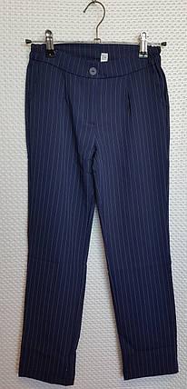 Брючный костюм для девочки 134-152 темно-синий в полосочку, фото 2