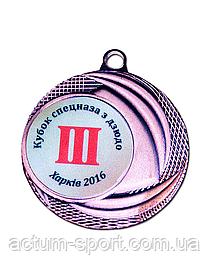 Медаль наградная 40 мм бронза
