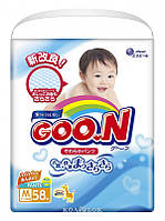 Трусики-подгузники GOO.N для детей 7-12 кг (размер M, унисекс, 58 шт)