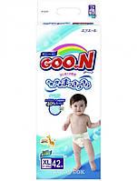 Подгузники Goo.N для детей 12-20 кг, размер Big (XL), на липучках, унисекс, 42 шт