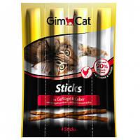 GimCat Sticks Poultry колбаски для кошек с курицей (4шт)