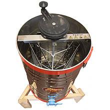 Медогонка 3-х рамкова (рута) нержавіюча сталь (Чарунка) з неповоротними касетами