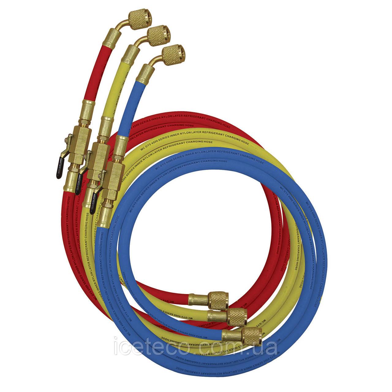 Комплект заправочных шлангов 3х90 см с вентилями МС 90262-36E  Mastercool