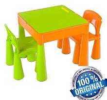 Комплект детской мебели Tega Baby Mamut стол + 2 стула (оранжевий с зеленым)