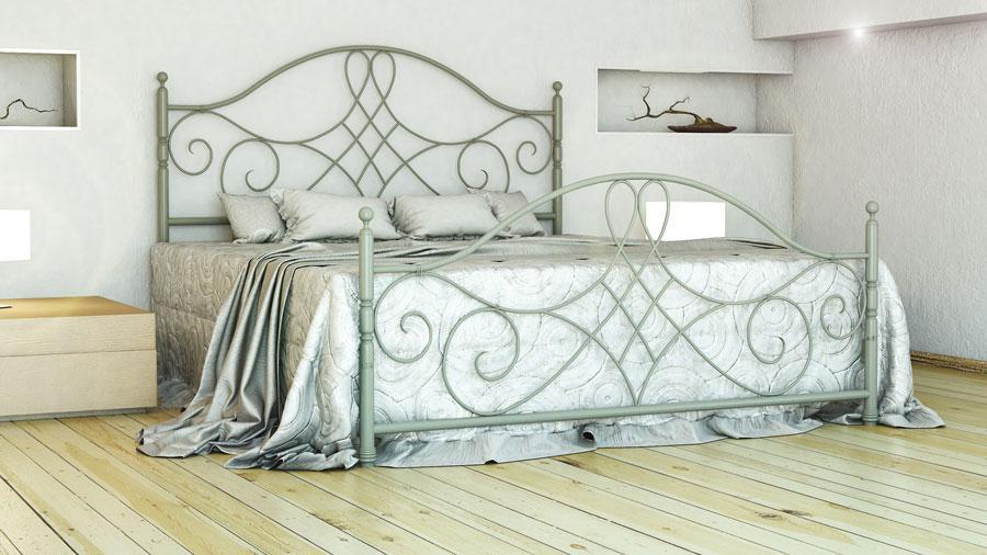 Кровать Парма 160*190 фисташка (Металл дизайн)