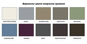 Кровать Неаполь 180*200 серый песок (Металл дизайн), фото 2