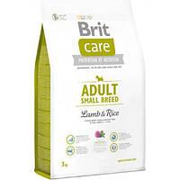 Brit Care (Брит Кеа) Adult Small Breed Lamb & Rice Корм для дорослих собак дрібних порід ягня/рис 3кг