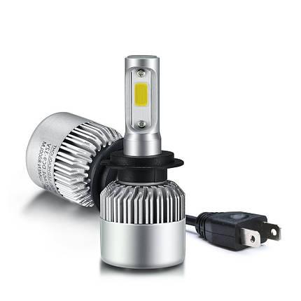 Светодиодная лампа цоколь H7, S2 COB 6000К, 8000 lm 36W, 9-36В, фото 2