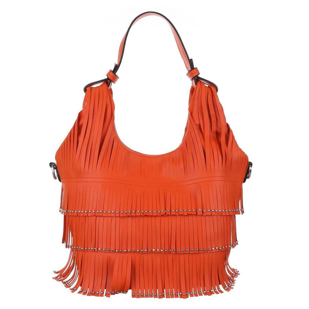 Женская сумка хобо с бахромой (Европа) Оранжевый