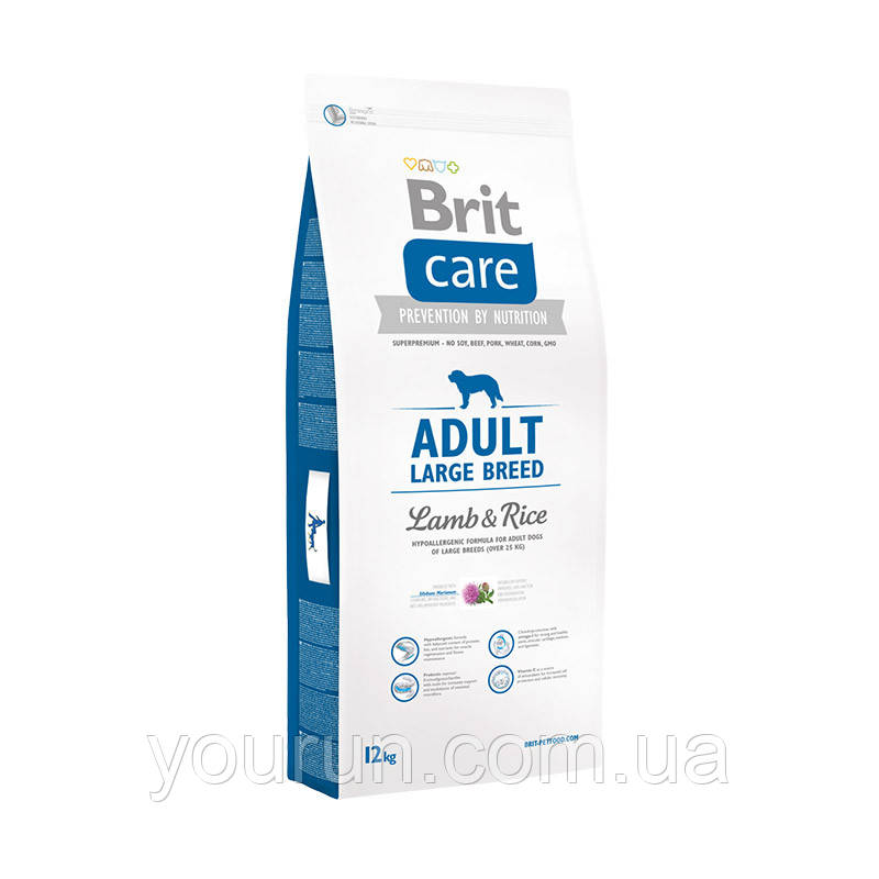 Brit Care (Брит Кеа) Adult Large Breed Lamb & Rice Корм для взрослых собак крупных пород ягненок/рис 12кг