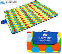 Коврик-плед для пикника Sapphire 200х200см (мед)