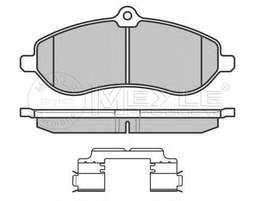 Колодки тормозные (передние) Fiat Scudo 07-, код 025 245 9518/W, MEYLE