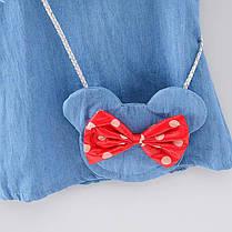 Платье для девочки джинсовое с сумочкой, фото 3