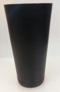 """Шейкер """"Бостон"""" нержавеющий круглый с утяжелителем черного цвета V 750 мл H 175 мм (шт)"""