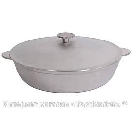 Сковорода Биол жаровня алюминиевая литая с крышкой А304