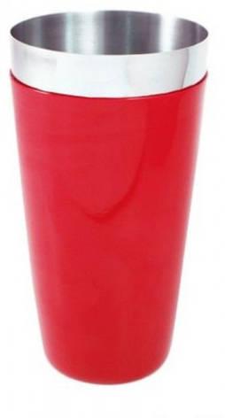 """Шейкер """"Бостон"""" с красным виниловым покритием H 170 мм (шт), фото 2"""