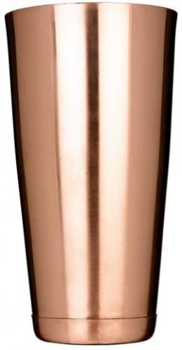 """Шейкер """"Бостон"""" нержавеющий круглый с утяжелителем бронзового цвета H 170 мм (шт)"""