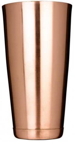 """Шейкер """"Бостон"""" нержавеющий круглый с утяжелителем бронзового цвета H 170 мм (шт), фото 2"""