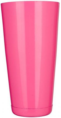 """Шейкер """"Бостон"""" нержавеющий круглый розового цвета H 175 мм (шт)"""
