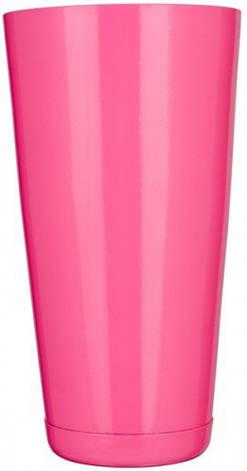 """Шейкер """"Бостон"""" нержавеющий круглый розового цвета H 175 мм (шт), фото 2"""