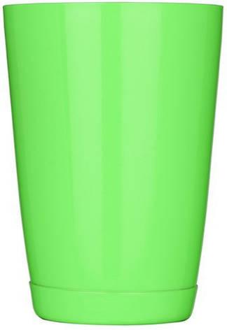"""Шейкер """"Бостон"""" нержавеющий круглый мини салатового цвета V 400 мл (шт), фото 2"""